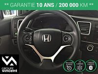 Honda Civic LX**MAGS/ BLUETOOTH/ SIÈGES CHAUFFANTS** 2014