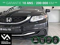 Honda Civic LX **GARANTIE 10 ANS** 2015