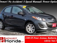 2011 Mazda Mazda2 GS LOW PRICE!! 1-Owner! No Accident! 5 Speed Manual! Power Options!