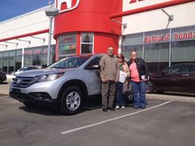 It is our first time here, actually to even purchase a Honda product!  David & Lucille Young