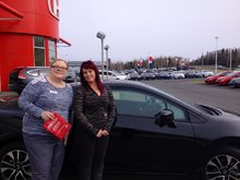 Tammy Aubie gave me a super service at Bathurst Honda! Nancy Guérette