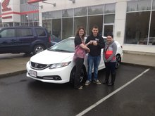 We really enjoyed our experience at Bathurst Honda! Éric Duguay & Josée Brideau Frenette