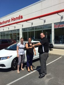 Thank you very much to the whole Bathurst Honda team! Vanessa Blanchard
