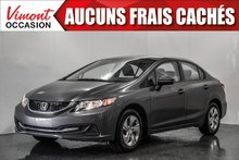 Honda Civic Sedan 2015+LX+CAMERA RECUL+SIEGES CHAUFFANTS+BLUETOOTH 2015