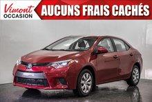 2016 Toyota Corolla 2016+LE+CAMERA RECUL+SIEGES CHAUFFANTS+BLUETOOTH