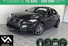 Lexus IS 350 F SPORT AWD GPS CUIR TOIT ** GARANTIE 10 ANS ** 2016