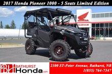 2017 Honda Pioneer 1000 Limited Edition - 5 seats