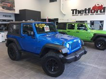 Jeep Wrangler SPORT 4x4 v6/AUTOM/AIR CLIM/*110$SEM.0$TOUT INCLUS 2016