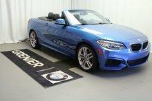 BMW 228i xDrive Convertible,M sport,4 pneu neuf, a partir de 0,9% 2016