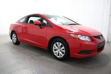 Honda Civic Cpe LX ECONOMIQUE--COUPÉ+GR.ELECT+A/C 2012