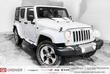 Jeep Wrangler Unlimited Sahara + Toit Targa + système électrique 2017