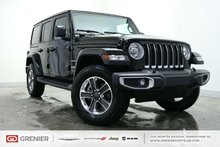 Jeep Wrangler Unlimited SAHARA+CUIR+2 TOITS+CARPLAY+BANCS/VOLANT CHAUFFANT 2018