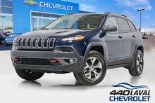 2015 Jeep Cherokee TRAILHAWK 4X4 volant chauffant cuir V6 caméra