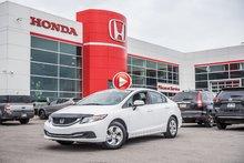2015 Honda CIVIC LX GARANTIE 10ANS/200