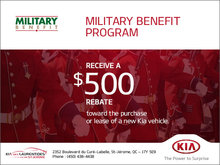 Kia's Military Benefit Program