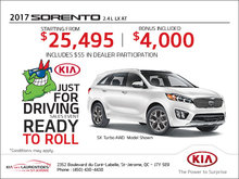 Save Big on the 2017 Kia Sorento