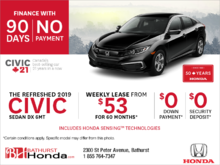 Lease the 2019 Honda Civic Sedan!