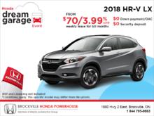 Lease the 2018 Honda HR-V!