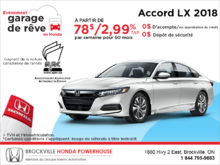 Louez la Honda Accord Sedan 2018!