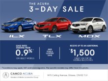 The Acura 3-Day Sale!