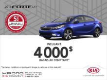 Obtenez la Kia Forte 2018!