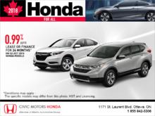 Get a new 2018 Honda today!