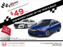 Honda Checkered Flag Event