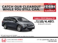 Lease the 2019 Honda Odyssey!