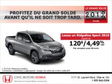 Louez le Honda Ridgeline 2019!