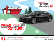 Louez la Honda Insight 2019!