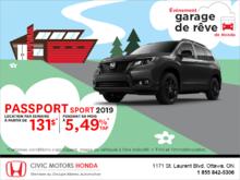 Louez la Honda Passport 2019!