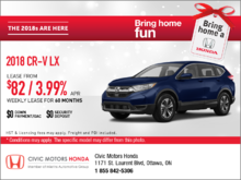 Save on the 2018 Honda CR-V Today!
