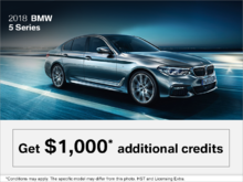 2018 BMW 5 Series - The Black Friday Event.