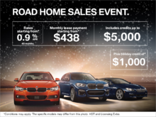 BMW Road Home sales event!