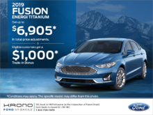 2019 Ford Fusion!