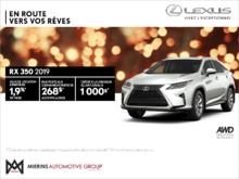 Procurez-vous la Lexus RX 350 2019!