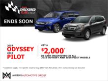 Get the 2019 Honda Odyssey and Pilot !