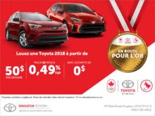 L'événement de vente mensuelle de Toyota