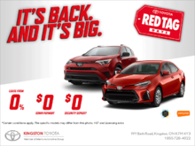 Toyota's Red Tag Days