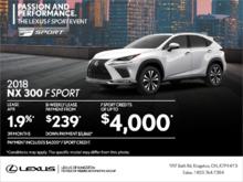 Get the 2018 Lexus NX 300 today!