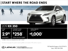 Get the 2019 Lexus RX 350 today!