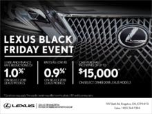 Lexus Black Friday Event.