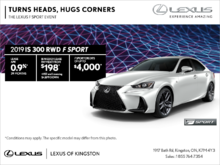 Get the 2019 Lexus IS 300 today!