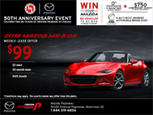 Lease the 2018 Mazda MX-5 Today!