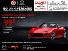 Louez la Mazda MX-5 2018!
