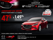Procurez-vous la Mazda3 2018!