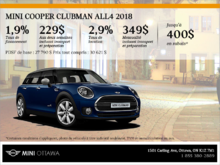 La MINI Cooper Clubman ALL4 2018