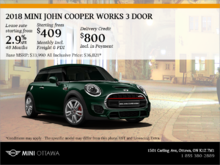 2018 MINI John Cooper Works 3 Door