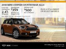 2018 MINI Cooper Countryman ALL4