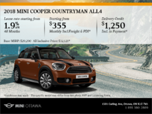 2018 MINI Cooper Countryman ALL4